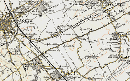 Old map of Legbourne Furze in 1903