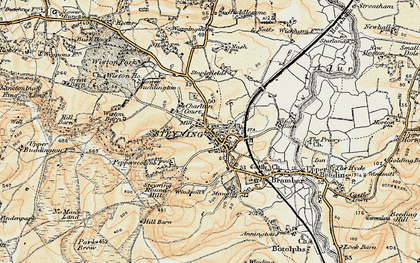 Old map of Wiston Barn in 1898