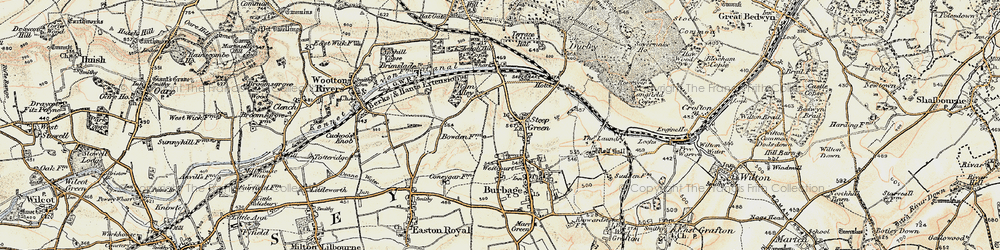 Old map of Stibb Green in 1897-1899