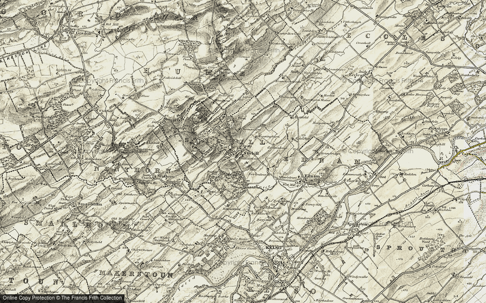 Old Map of Historic Map covering Baillieknowe in 1901-1904