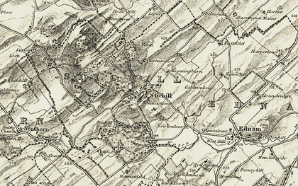 Old map of Baillieknowe in 1901-1904