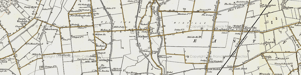 Old map of Whyte Acre in 1901-1903