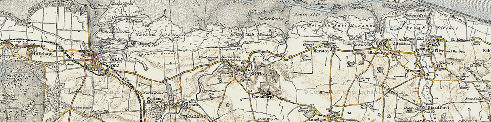 Old map of West Sand in 1901-1902