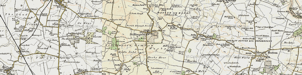 Old map of Stillington in 1903-1904