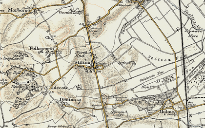 Old map of Stilton in 1901