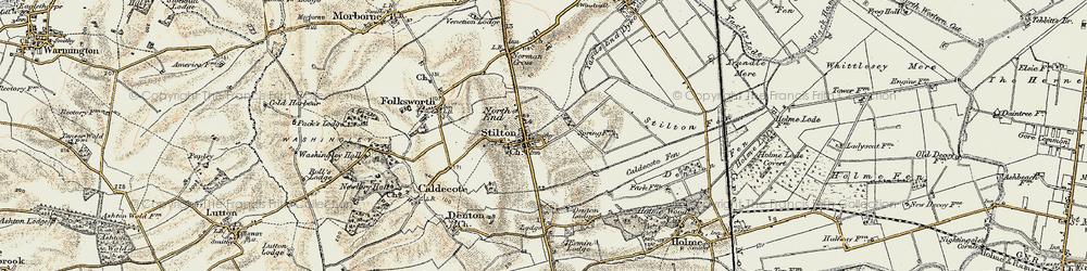 Old map of Stilton in 1901