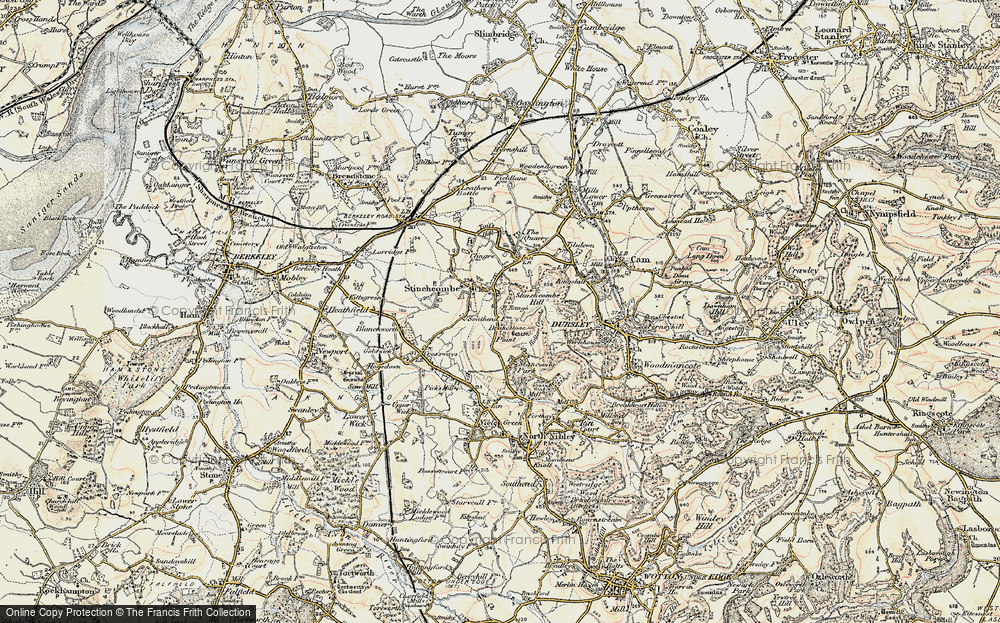 Old Map of Historic Map covering Yercombe Lodge in 1898-1900