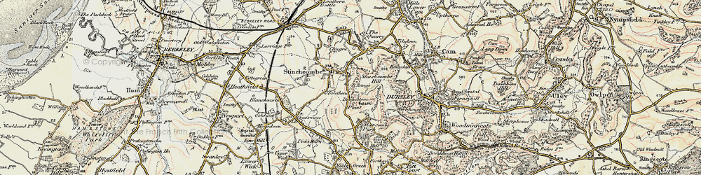 Old map of Yercombe Lodge in 1898-1900