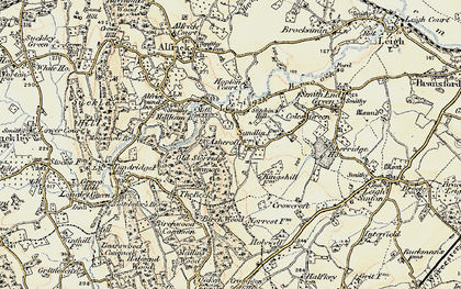 Old map of Ashcroft Ho in 1899-1901