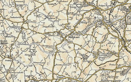Old map of Stithians in 1900
