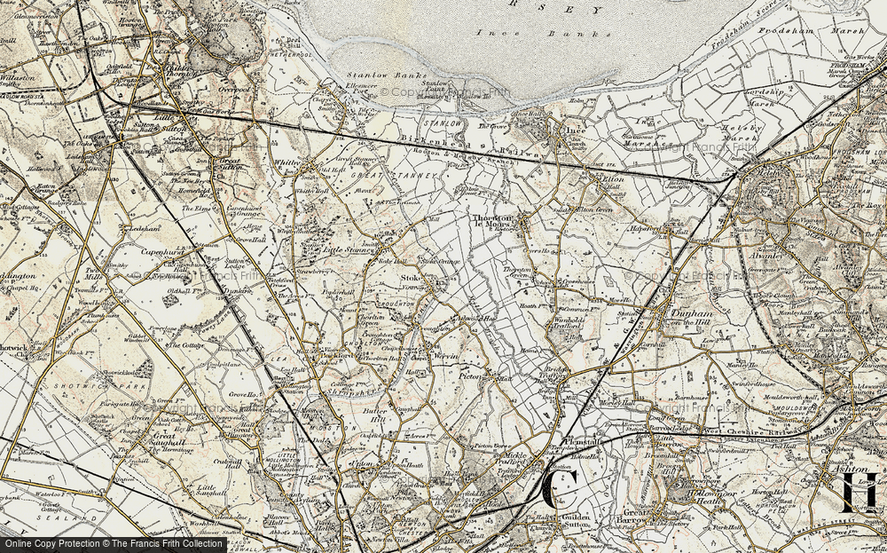 Old Map of Historic Map covering Ashwood Ho in 1902-1903