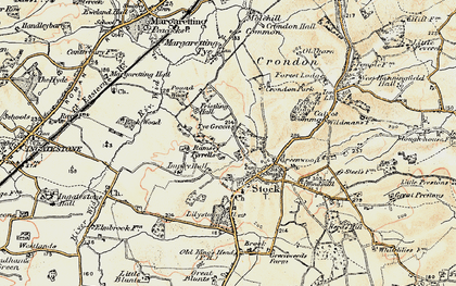 Old map of Lilystone Hall in 1898