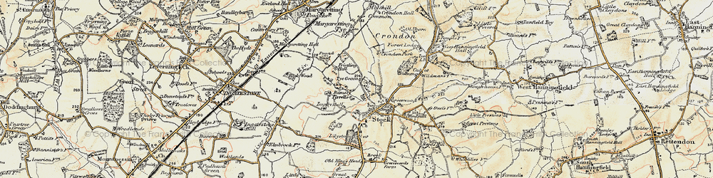 Old map of Stock in 1898