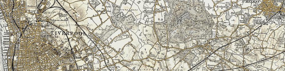 Old map of Stockbridge Village in 1902-1903