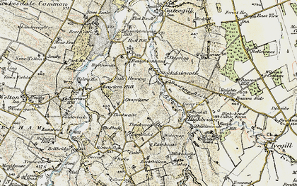 Old map of Stockdalewath in 1901-1904