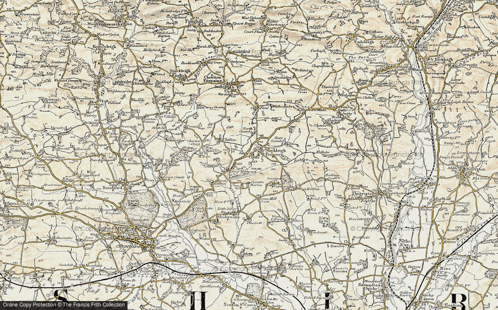 Old Map of Stockleigh Pomeroy, 1899-1900 in 1899-1900