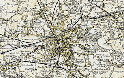 Old map of Stockport in 1903