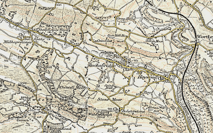 Old map of Whitwell Moor in 1903