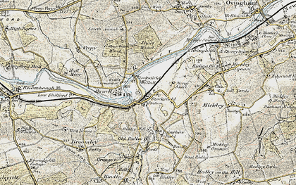 Old map of Stocksfield in 1901-1904