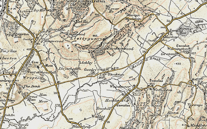 Old map of Aylesford Brook in 1902-1903