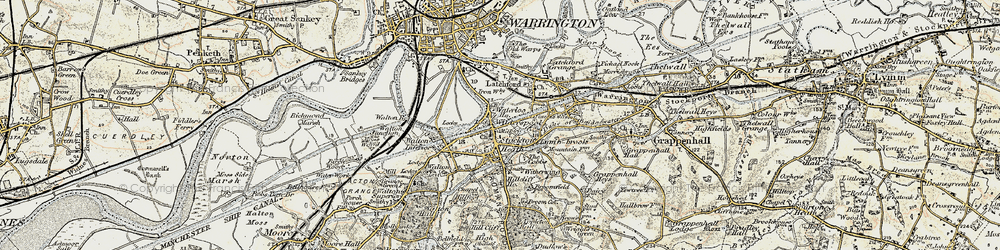 Old map of Stockton Heath in 1903