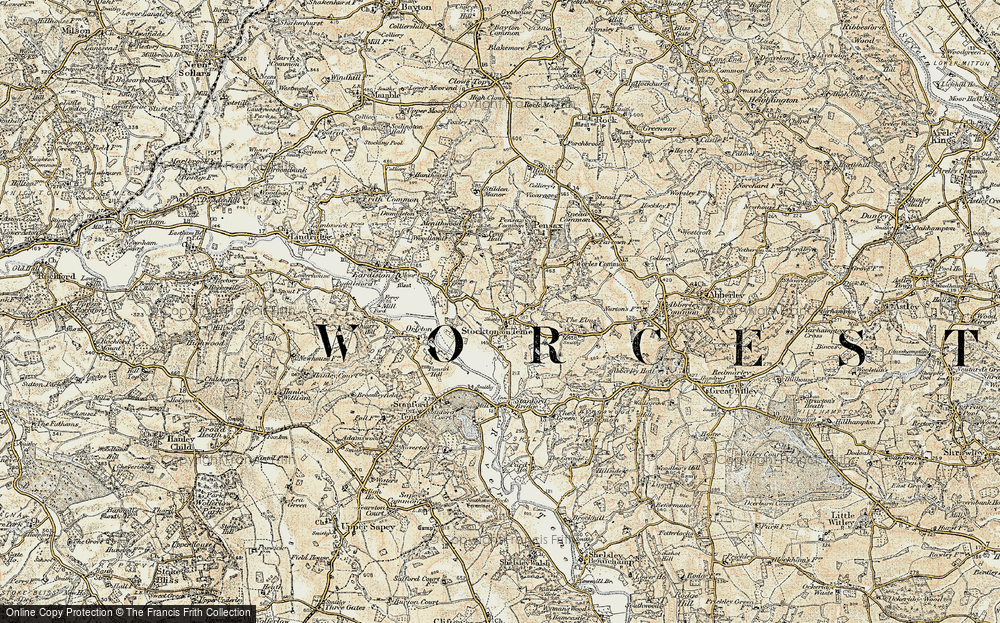 Old Map of Stockton on Teme, 1901-1902 in 1901-1902