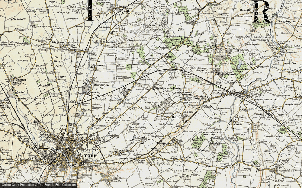 Old Map of Historic Map covering Old Foss Beck in 1903-1904