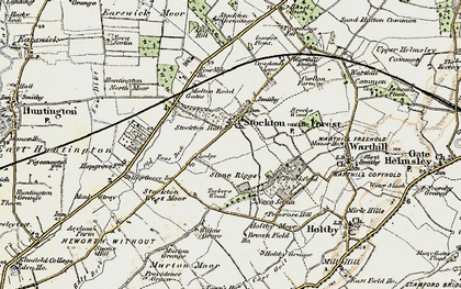 Old map of Old Foss Beck in 1903-1904