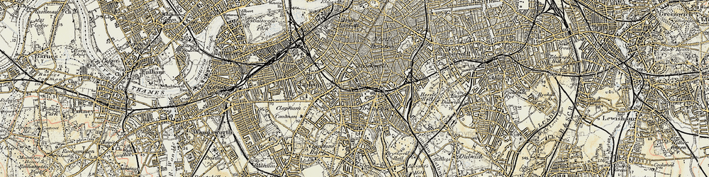 Old map of Stockwell in 1897-1902