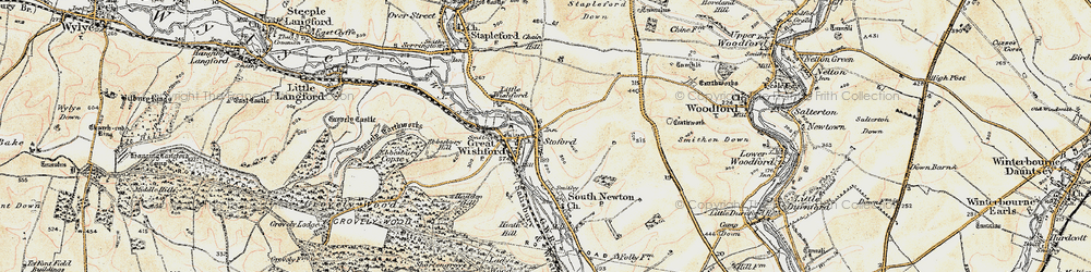Old map of Stoford in 1897-1899