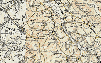 Old map of Stogumber in 1898-1900