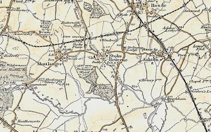 Old map of Stoke Bruerne in 1898-1901