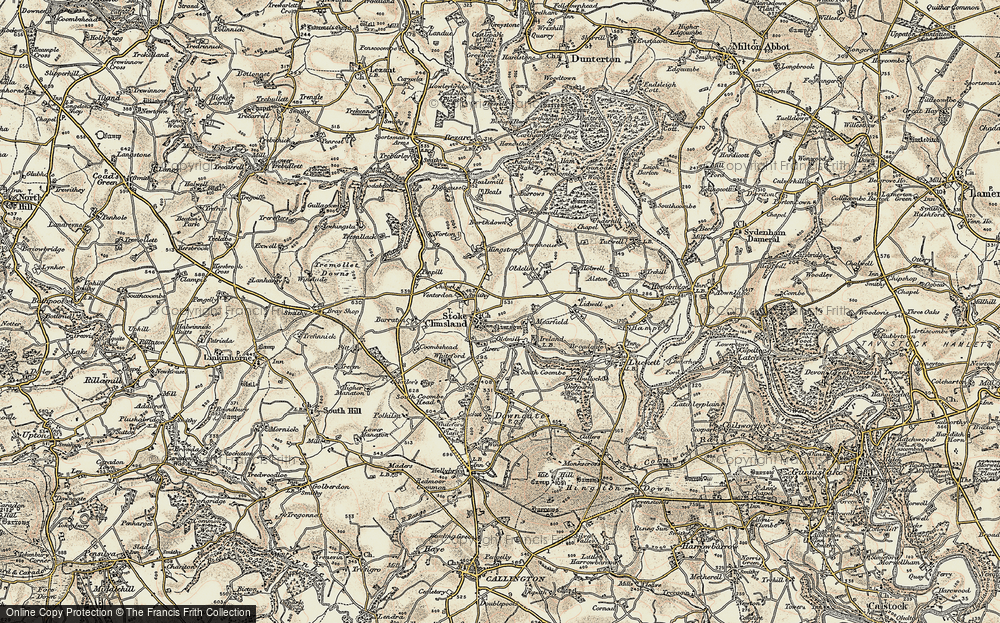 Old Map of Stoke Climsland, 1899-1900 in 1899-1900