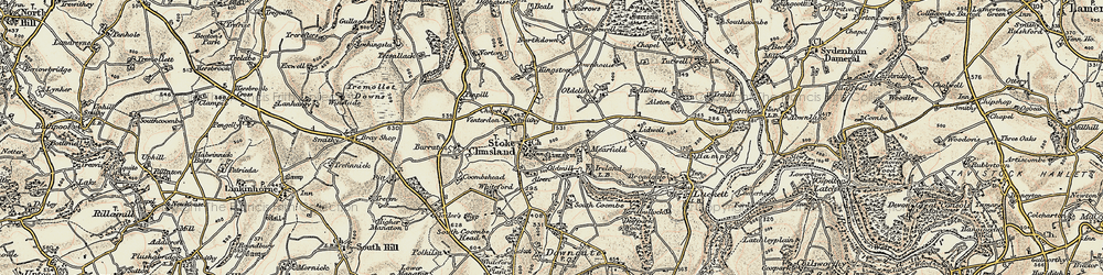 Old map of Stoke Climsland in 1899-1900