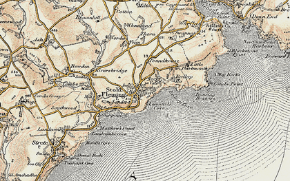 Old map of Leonard's Cove in 1899
