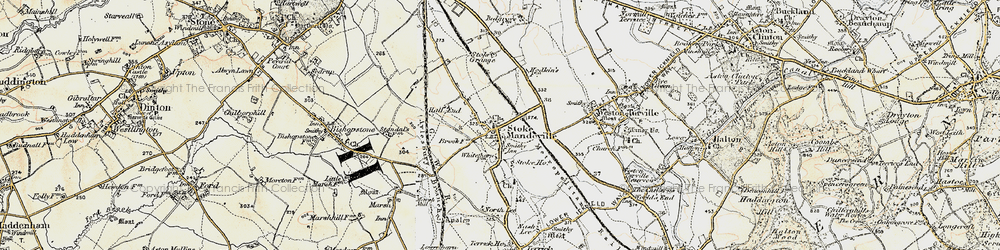 Old map of Stoke Mandeville in 1898
