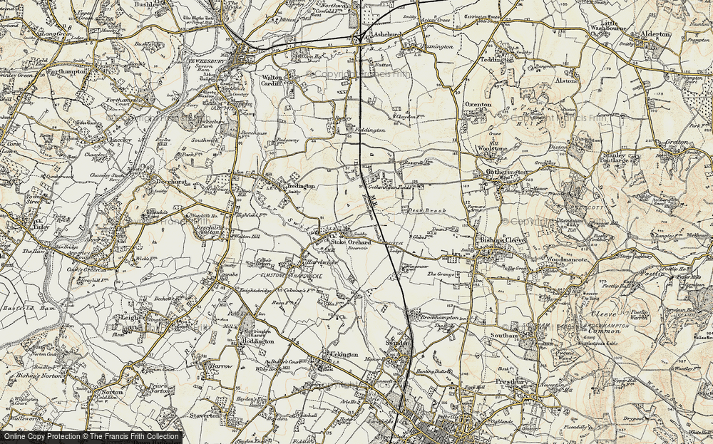 Old Map of Stoke Orchard, 1899-1900 in 1899-1900