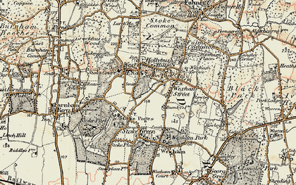 Old map of Stoke Poges in 1897-1909