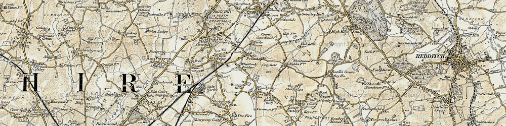 Old map of Whitford Bridge in 1901-1902