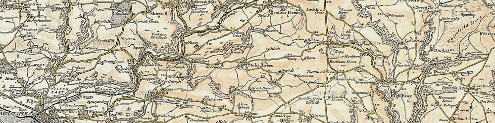 Old map of Yarde in 1900
