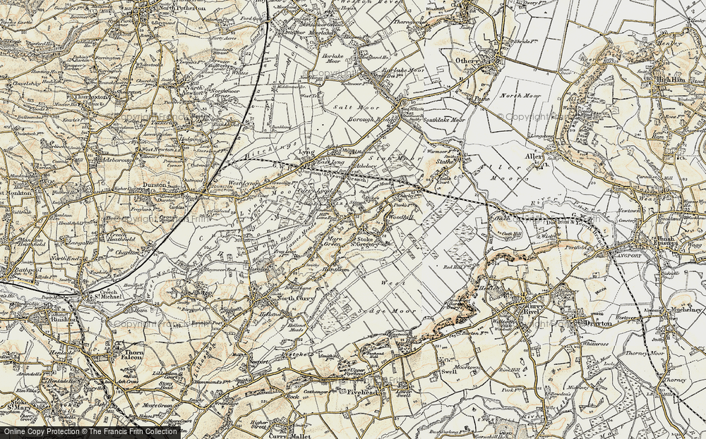 Old Map of Stoke St Gregory, 1898-1900 in 1898-1900