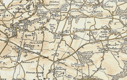 Old map of Stoke St Michael in 1899