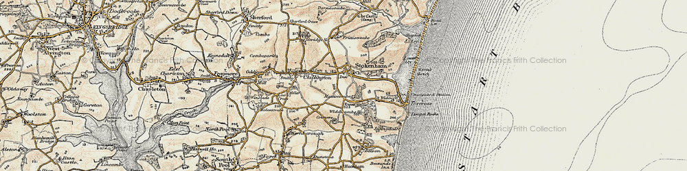 Old map of Widewell in 1899