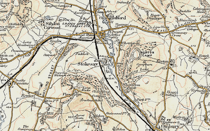 Old map of Stokesay in 1901-1903