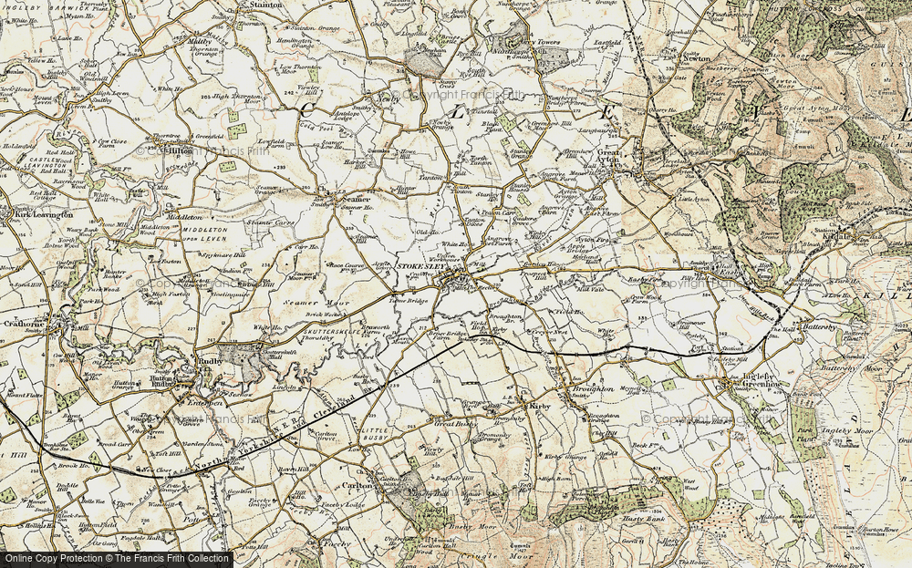 Old Map of Stokesley, 1903-1904 in 1903-1904