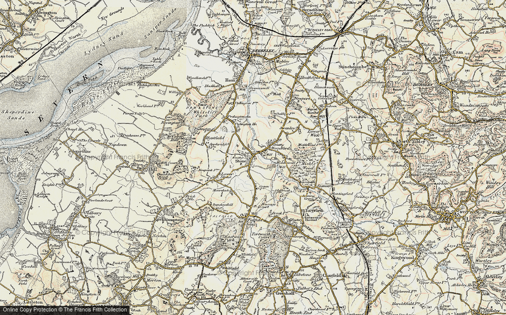 Old Map of Stone, 1899-1900 in 1899-1900