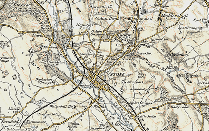 Old map of Stone in 1902