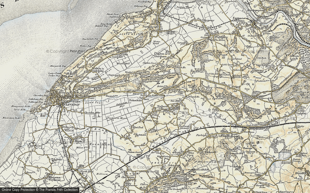 Old Map of Historic Map covering Lime Breach Wood in 1899