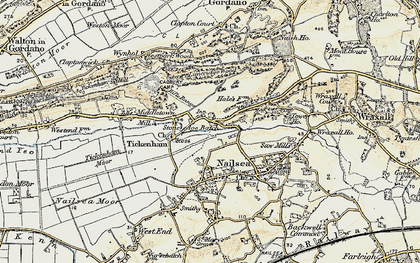 Old map of Lime Breach Wood in 1899