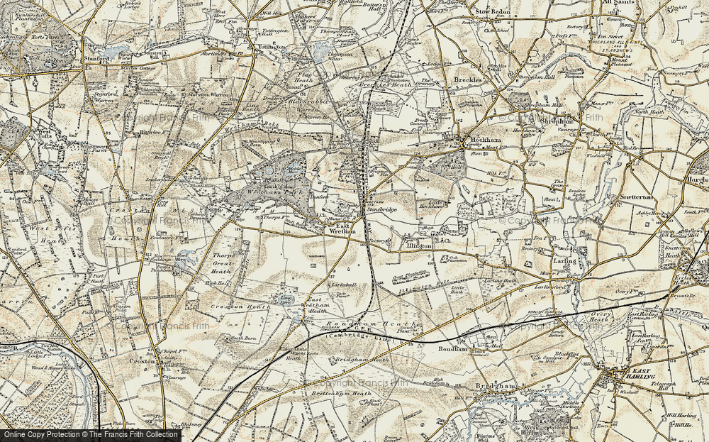 Old Map of Historic Map covering Woodcock Hill in 1901